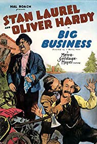 Oliver Hardy, James Finlayson, and Stan Laurel in Big Business (1929)