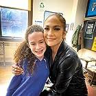 Jennifer Lopez & Chloe Coleman on set of Marry Me for Universal