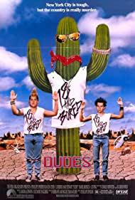 Jon Cryer and Daniel Roebuck in Dudes (1987)