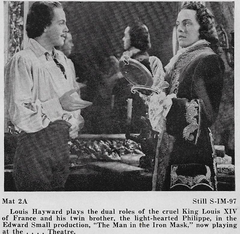 Louis Hayward in The Man in the Iron Mask (1939)
