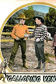 Bob Custer, Ralph McCullough, and Dorothy Ponedel in Galloping Vengeance (1925)