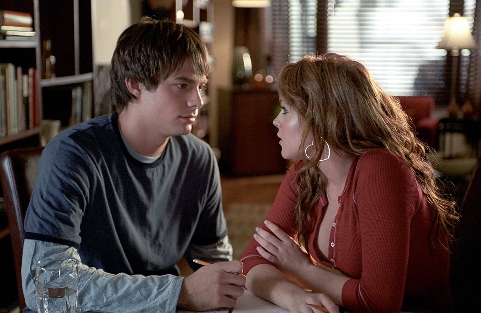 Lindsay Lohan and Jonathan Bennett in Mean Girls (2004)