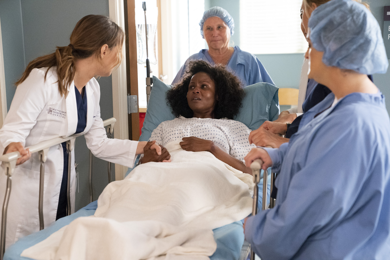 Linda Klein, Khalilah Joi, Elisabeth Finch, and Camilla Luddington in Grey's Anatomy (2005)