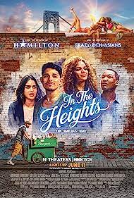 Lin-Manuel Miranda, Daphne Rubin-Vega, Corey Hawkins, Stephanie Beatriz, Melissa Barrera, Dascha Polanco, Leslie Grace, and Anthony Ramos in In the Heights (2021)