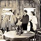 Frank Conroy, Virginia Grey, Charles McGraw, and Michael O'Shea in The Threat (1949)
