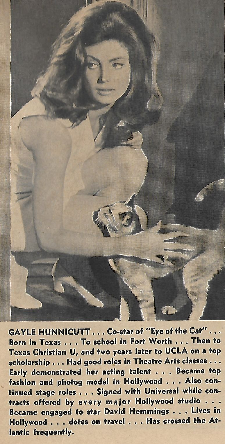 Gayle Hunnicutt and Tullia in Eye of the Cat (1969)