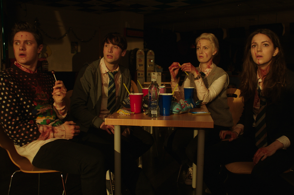 Christopher Leveaux, Ella Hunt, Sarah Swire, and Malcolm Cumming in Anna and the Apocalypse (2017)