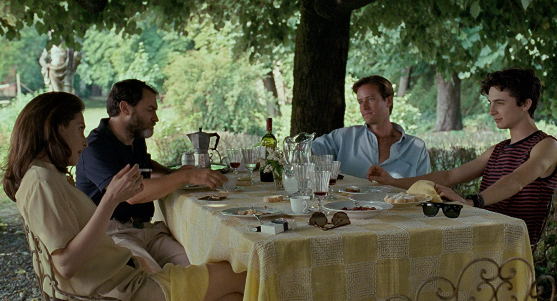 Amira Casar, Michael Stuhlmet in Call Me by Your Name (2017)
