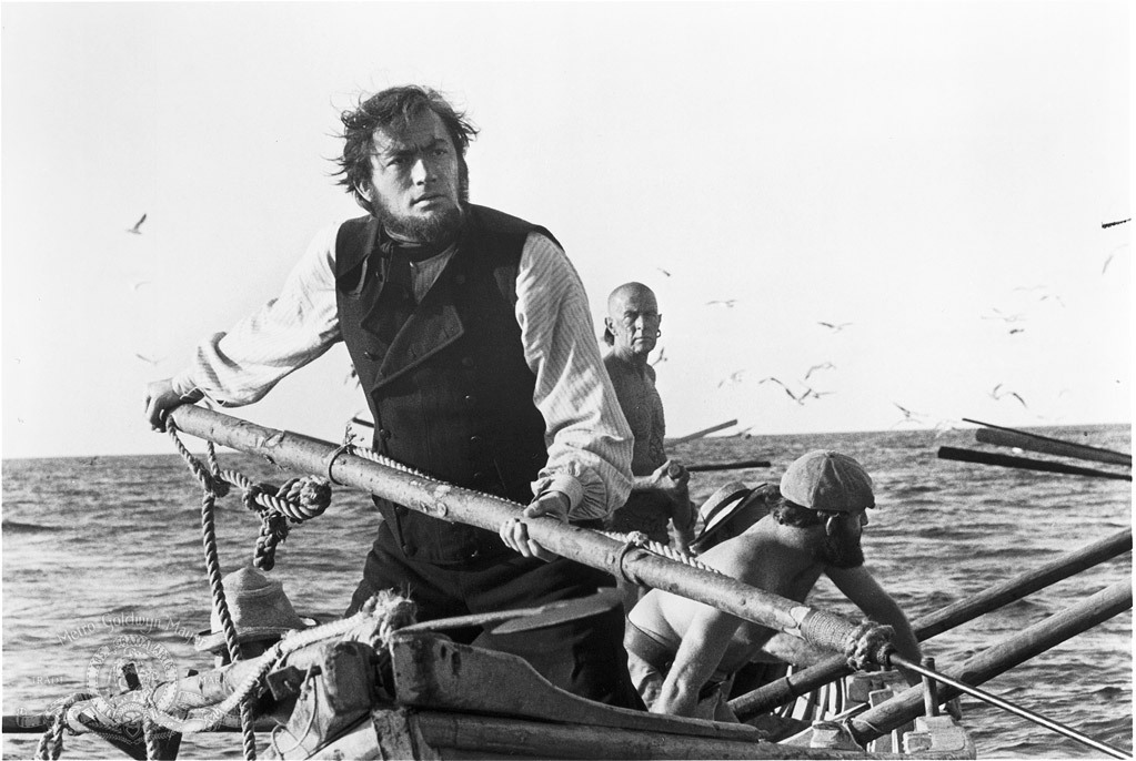 Gregory Peck and Friedrich von Ledebur in Moby Dick 1956