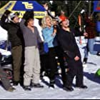 Victoria Silvstedt, David Denman, Zach Galifianakis, Derek Hamilton, and Jason London in Out Cold (2001)