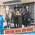 Bob Baker, Johnny Mack Brown, Anne Gwynne, and Fuzzy Knight in Bad Man from Red Butte (1940)