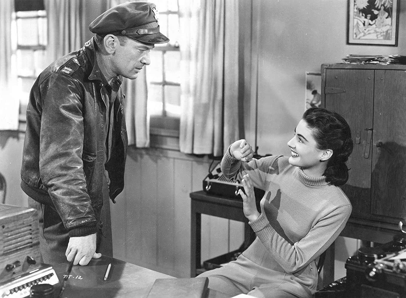Margaret Sheridan and Kenneth Tobey in The Thing from Another World (1951)