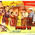 Irving Bacon, Phyllis Fowler, George Montgomery, and Joan Vohs in Fort Ti (1953)