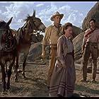 Randolph Scott, Maureen O'Sullivan, and Henry Silva in The Tall T (1957)