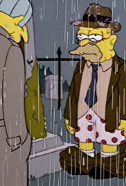 Raging Abe Simpson and His Grumbling Grandson in 'The Curse of the Flying Hellfish' Poster