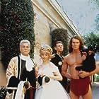 Tony Curtis, Jan-Michael Vincent, Kim Crosby, and Joe Lara in Tarzan in Manhattan (1989)