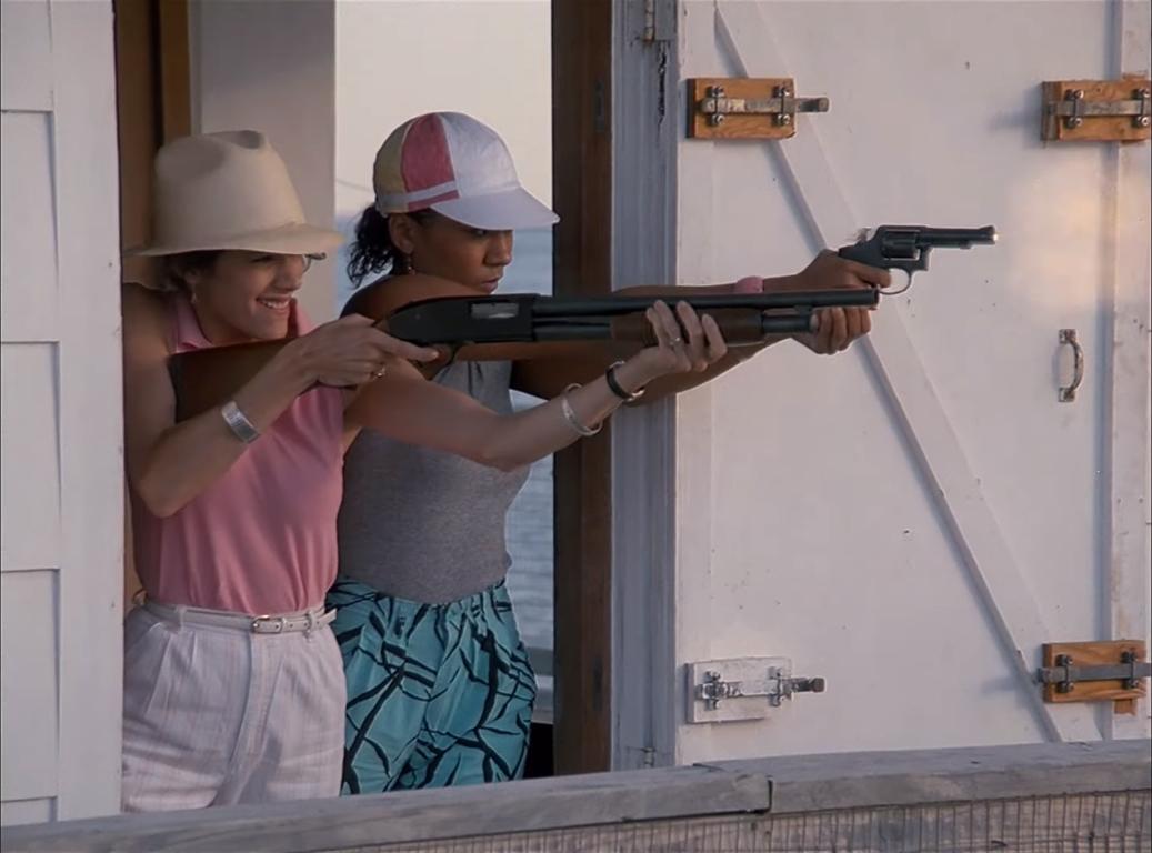 Olivia Brown and Saundra Santiago in Miami Vice (1984)