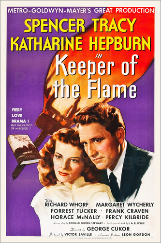 Katharine Hepburn and Spencer Tracy in Keeper of the Flame (1942)