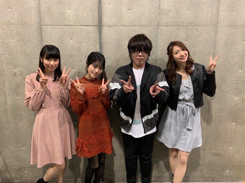 Haruka Tomatsu, Kaori Ishihara, Yoshitsugu Matsuoka, and Reina Kondou at an event for Sword Art Online (2012)