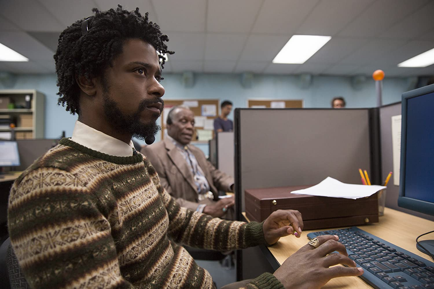 Danny Glover and Lakeith Stanfield in Sorry to Bother You (2018)