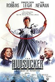 Paul Newman, Tim Robbins, and Jennifer Jason Leigh in The Hudsucker Proxy (1994)