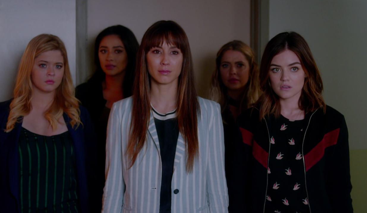 Troian Bellisario, Sasha Pieterse, Lucy Hale, Ashley Benson, and Shay Mitchell in Pretty Little Liars (2010)