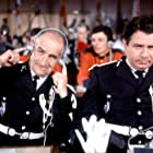 Louis de Funès and Michel Galabru in Le gendarme à New York (1965)