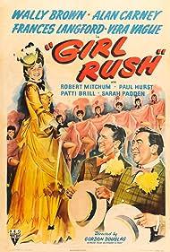 Robert Mitchum, Barbara Jo Allen, Patti Brill, Wally Brown, Alan Carney, Paul Hurst, Frances Langford, and Sarah Padden in Girl Rush (1944)