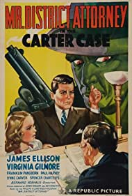 James Ellison and Virginia Gilmore in Mr. District Attorney in the Carter Case (1941)