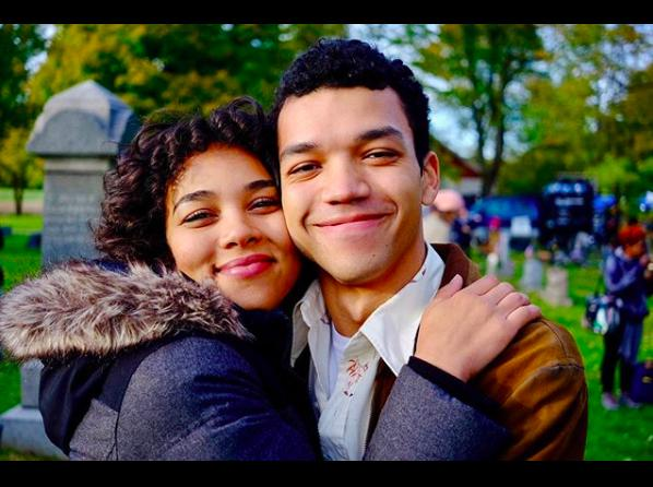 Alexandra Shipp and Justice Smith in All the Bright Places (2020)