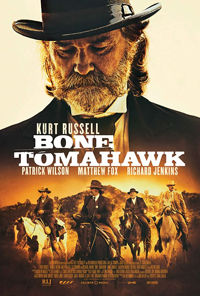 Kurt Russell, Matthew Fox, Richard Jenkins, and Patrick Wilson in Bone Tomahawk (2015)