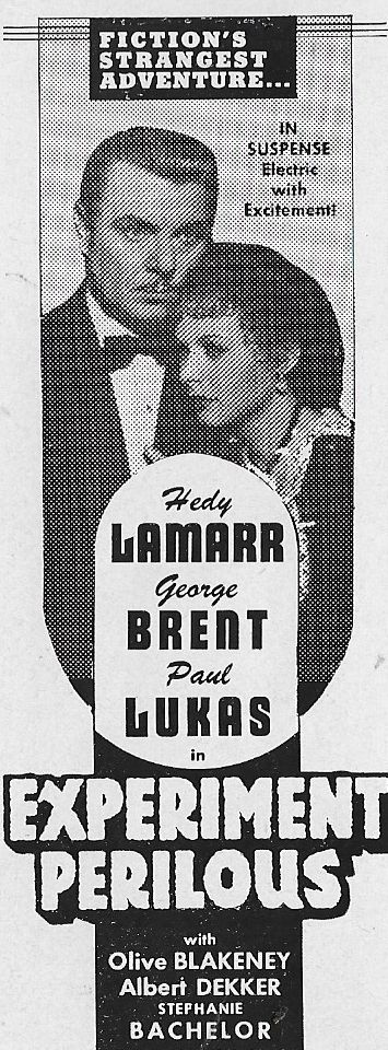 Hedy Lamarr and George Brent in Experiment Perilous (1944)