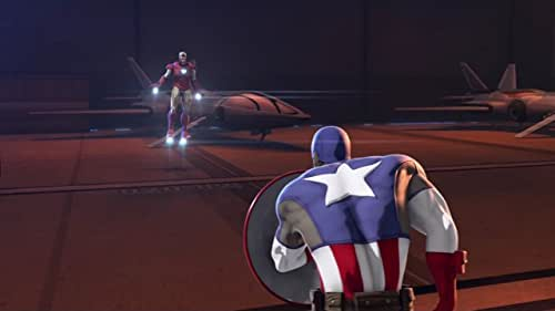 Captain America and Iron Man take off the gloves to see who is the best fighter.