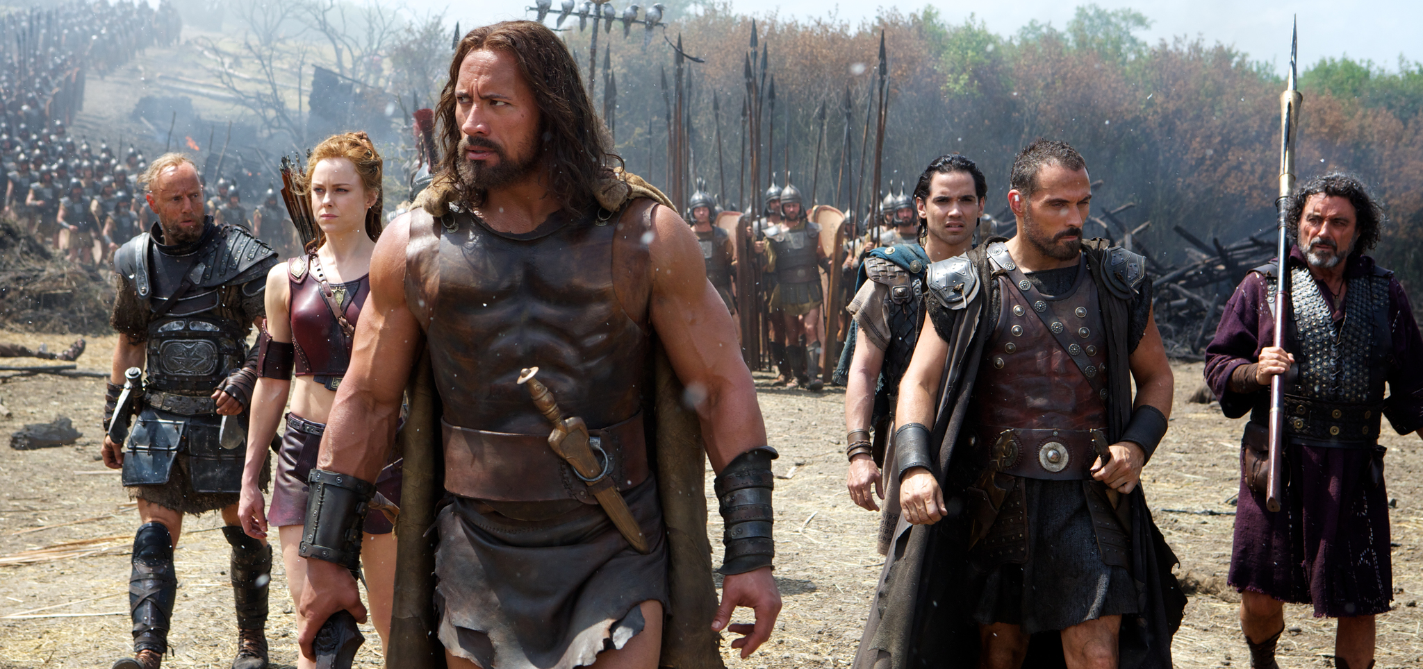 Rufus Sewell, Aksel Hennie, Dwayne Johnson, Ian McShane, Ingrid Bolsø Berdal, and Reece Ritchie in Hercules (2014)