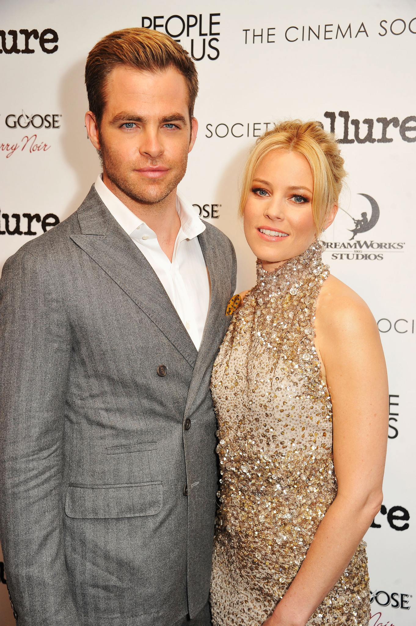 Elizabeth Banks and Chris Pine at an event for People Like Us (2012)