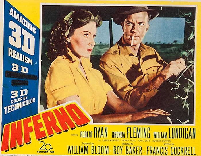 Rhonda Fleming and William Lundigan in Inferno (1953)