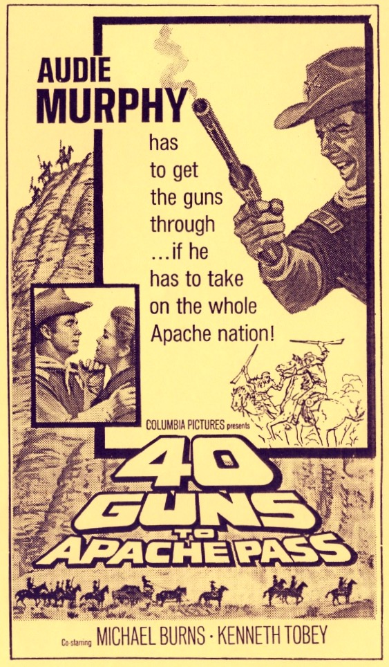 Audie Murphy and Laraine Stephens in 40 Guns to Apache Pass (1967)