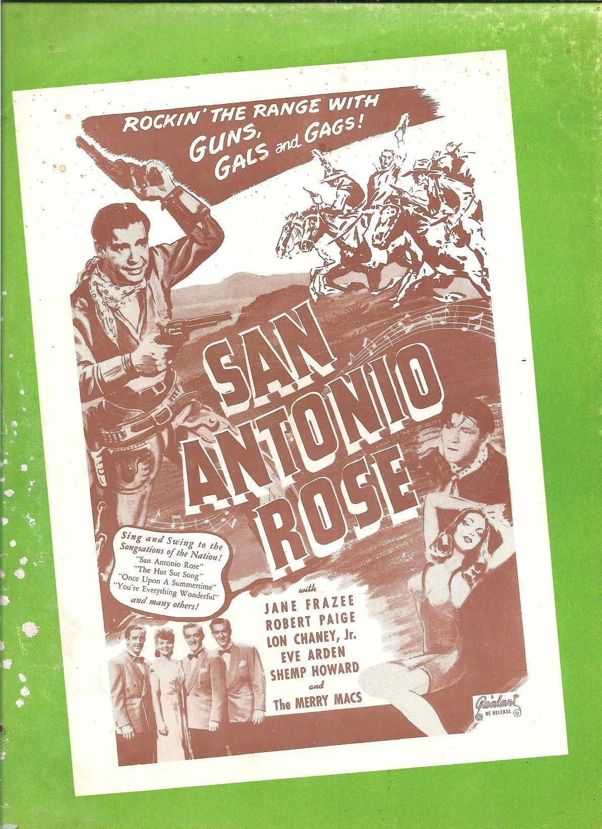 Lon Chaney Jr. and Jane Frazee in San Antonio Rose (1941)