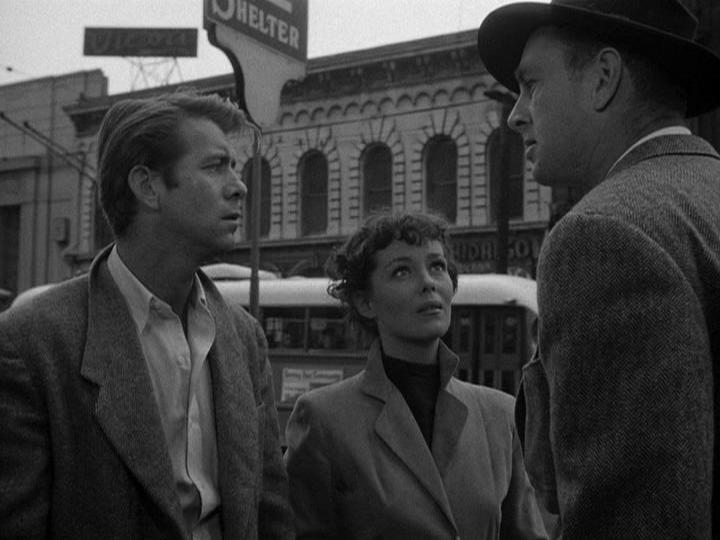 Sterling Hayden, Phyllis Kirk, and Gene Nelson in Crime Wave (1953)