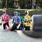 Erika Fong, Hector David Jr., Brittany Anne Pirtle, and Najee De-Tiege in Power Rangers Samurai (2011)
