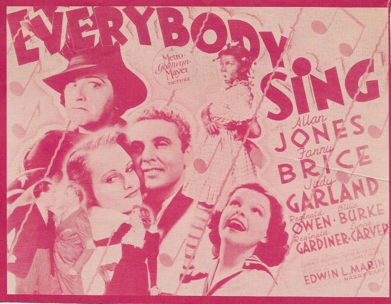 Judy Garland, Fanny Brice, Allan Jones, Reginald Owen, and Helen Troy in Everybody Sing (1938)
