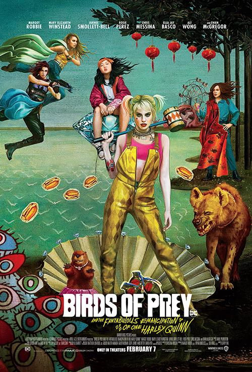 Rosie Perez, Jurnee Smollett-Bell, Mary Elizabeth Winstead, Margot Robbie, and Ella Jay Basco in Birds of Prey: And the Fantabulous Emancipation of One Harley Quinn (2020)