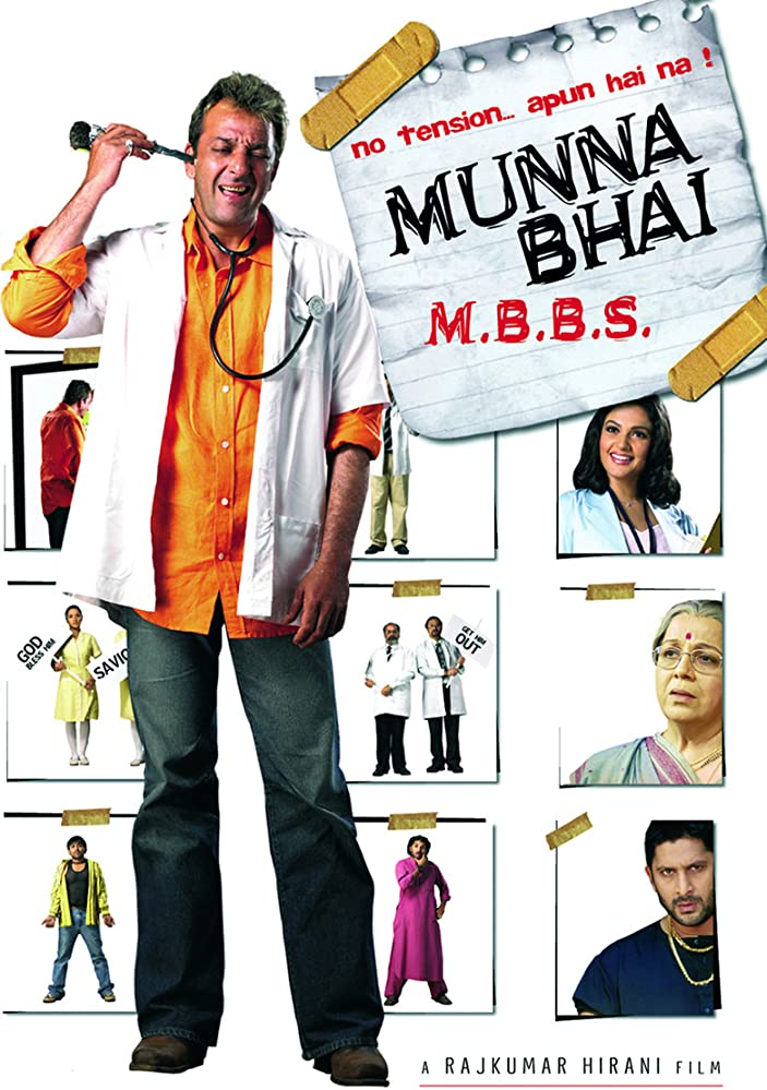 Munna Bhai MBBS (2003) HDRip [1080p-720p-480p] Hindi x264 AAC ESub