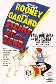 Judy Garland, Mickey Rooney, and Paul Whiteman in Strike Up the Band (1940)