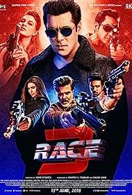 Salman Khan, Bobby Deol, Anil Kapoor, Saif Ali Khan, Daisy Shah, Jacqueline Fernandez, and Saqib Saleem in Race 3 (2018)