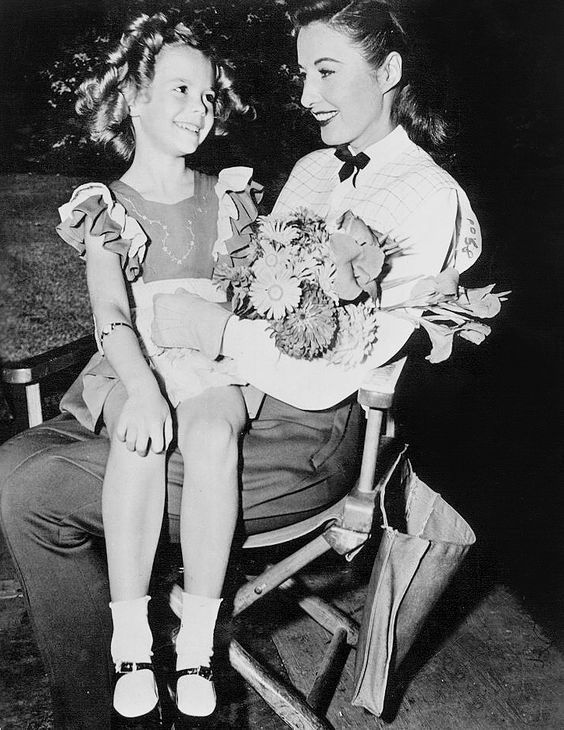 Natalie Wood and Barbara Stanwyck in The Bride Wore Boots (1946)