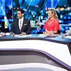 Peter Helliar, Steve Price, Carrie Bickmore, and Waleed Aly in The 7PM Project (2009)