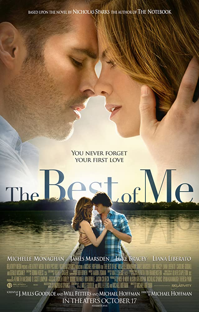James Marsden, Michelle Monaghan, Liana Liberato, and Luke Bracey in The Best of Me (2014)