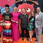 Kelly Asbury, Christopher Lennertz, Emma Roberts, Alison Peck, Kelly Clarkson, and Janelle Monáe at an event for UglyDolls (2019)