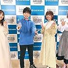 Fairouz Ai, Ayana Taketatsu, Daiki Yamashita, and Aoi Koga at an event for Kyuukyoku Shinka Shita Full Dive RPG ga Genjitsu yori mo Kusogee Dattara (2021)